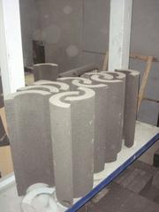 Утеплитель из пеностекла (скорлупы) для трубопроводов,  емкостей