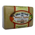 Натуральное оливковое мыло ручной работы Афродита (мед и ваниль)