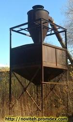 Аспирационная установка,  циклон,  бункер,  вентелятор. б.у