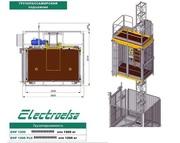 Лифт строительный грузопассажирский Electroelsa ELSA Н15 (EHP 1200)