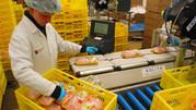 Работа на производственной линии птицефабрики в Польше
